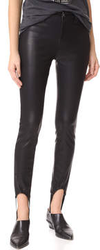 Blank Faux Leather Stirrup Pants