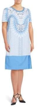 Basler Printed Short-Sleeve Dress