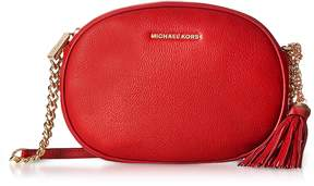Michael Kors Ginny Bright Red Pebble Leather Medium Messenger - ONE COLOR - STYLE