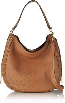 Rebecca Minkoff Almond Leather Unlined Convertible Hobo Bag w/Whipstitch - ONE COLOR - STYLE