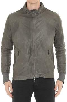 Giorgio Brato Leather Bomber Jacket