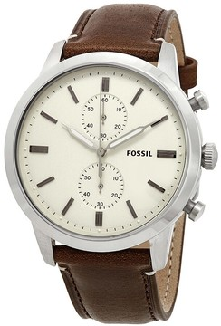 Fossil Townsman Chronograph Cream Dial Men's Watch