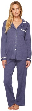 Eileen West Cotton Interlock Notch Collar Pajamas Women's Pajama Sets