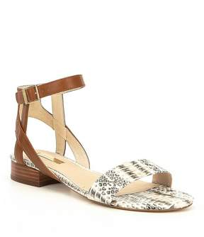Louise et Cie Akella Leather and Snake Sandals