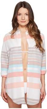 Letarte Stripe Beachshirt Women's Swimwear