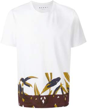 Marni printed trim T-shirt