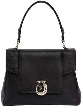 Trussardi Lovy Grainy Leather Top Handle Bag