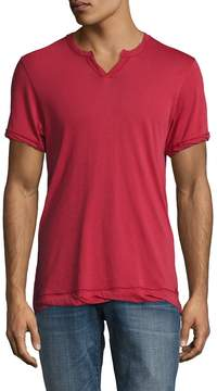 Alternative Apparel Men's Cotton Split Crewneck Tee