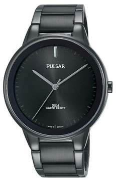 Pulsar Men's Black Ion Finish with Black Dial and Bezel PG2045