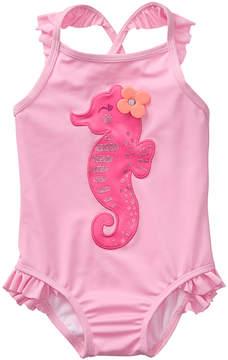 Gymboree Seashell Pink Lilac Sachet One-PIece - Infant, Toddler & Girls