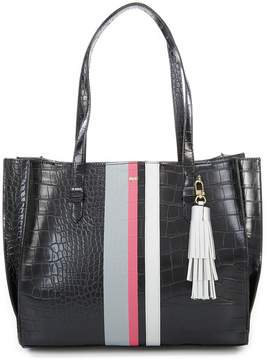 Kate Landry Belize Croco Stripe Tote
