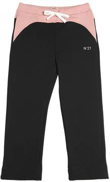 N°21 Star Tulle & Cotton Jogging Pants