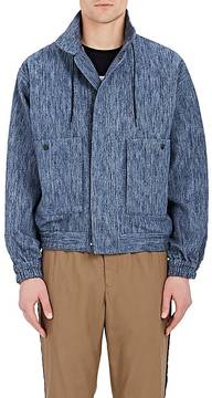 TOMORROWLAND MEN'S COTTON-WOOL SLUB DENIM JACKET