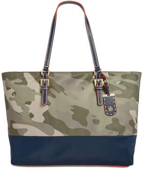 Tommy Hilfiger Julia Camo Colorblocked Tote