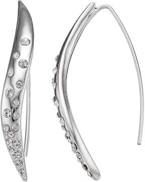 Dana Buchman Crystal Wavy Threader Earrings