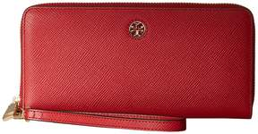 Tory Burch Perry Zip Passport Continental Wallet Bill-fold Wallet - BLACK - STYLE
