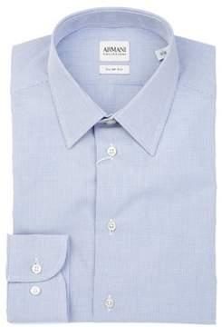 Armani Collezioni Men's Light Blue Cotton Shirt.