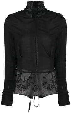 Ann Demeulemeester lace detail tie-back top