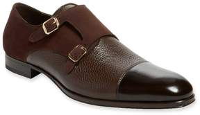 Mezlan Men's Cap-Toe Leather Monkstrap