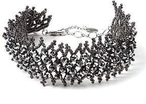 Amrita Singh Silvertone Alexandra Beaded Choker Necklace