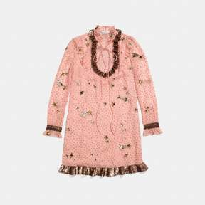 Coach New YorkCoach Embellished Outerspace Print Dress
