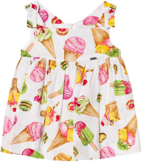 Mayoral Ice Cream Print Sleeveless Dress