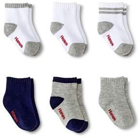 Hanes Toddler Ankle socks 6pk
