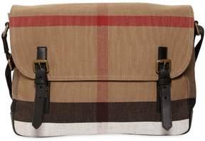 Burberry Check Cotton Canvas Messenger Bag
