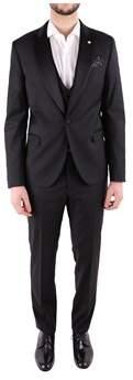Manuel Ritz Men's Black Polyester Suit.