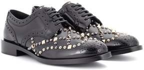 Dolce & Gabbana Embellished leather Derby shoes