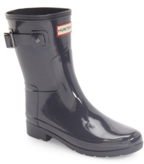 Hunter Women's 'Refined Short' Gloss Rain Boot