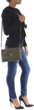 Michael Kors Leather Shoulder Bag - VERDE MILITARE - STYLE