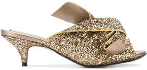 No.21 glittery kitten heeled sandals