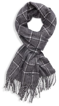 Hickey Freeman Men's Glen Plaid Cashmere Scarf