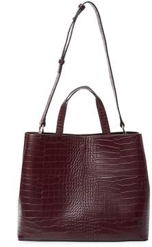 French Connection Women's Alana Embossed Satchel
