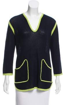Allude V-Neck Long Sleeve Sweater