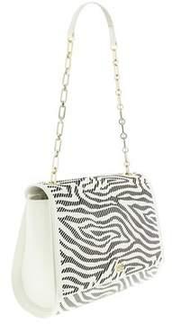 Roberto Cavalli Medium Shoulder Bag Audrey White/black Shoulder Bag.