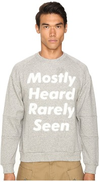 Mostly Heard Rarely Seen Disappearing Text Sweatshirt
