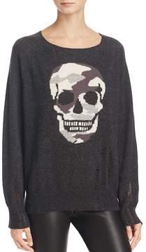 Aqua Cashmere Camo Skull Intarsia Sweater - 100% Exclusive