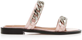 Givenchy Chain-Trimmed Stamped Lizard Leather Sandals