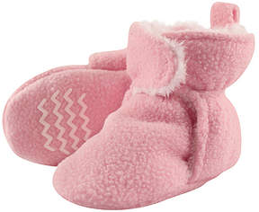 Hudson Baby Light Pink Sherpa-Lined Bootie