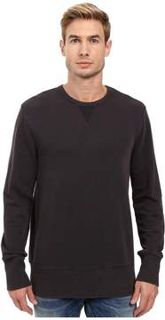 Alternative Weathered Wash Light French Terry Commuter Crew Neck Men's Short Sleeve Pullover