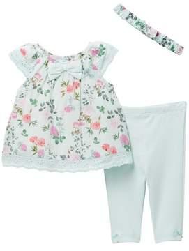 Little Me Botanical Tunic Set (Baby Girls)