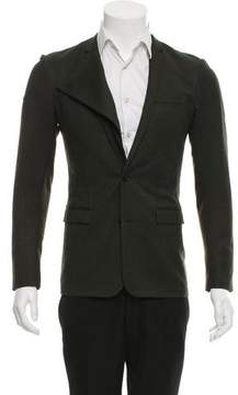 Christian Dior Petite Taille Virgin Wool Two-Button Blazer