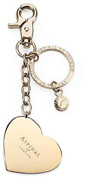 Aspinal of London Gold Plated Heart Handbag Charm Keyring