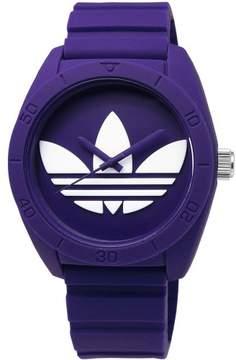 adidas Unisex ADH6175 Purple Dial Silicone Strap Quartz Watch