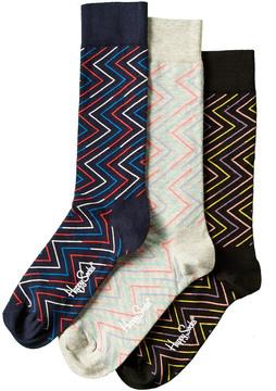 Happy Socks Set Of 3 Sock