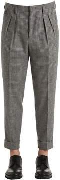 Pt01 18cm Wool Blend Prince Of Wales Pants
