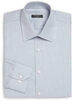 Saks Fifth Avenue COLLECTION Regular-Fit Textured Cotton Dress Shirt