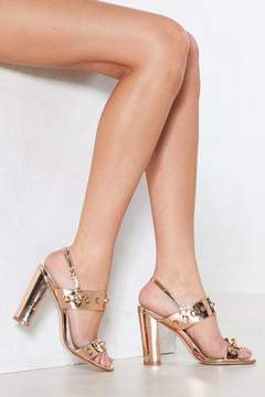 Nasty Gal Dancing Metallic Heel